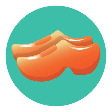 wooden clogs Ilustração