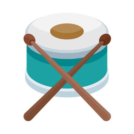 Snare drum Ilustração