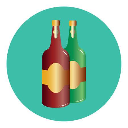 酒のボトル  イラスト・ベクター素材