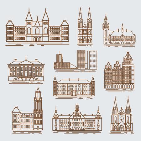 Städte der Niederlande Standard-Bild - 79187053