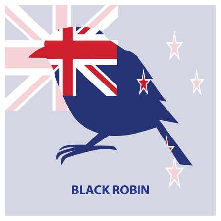 black robin Иллюстрация