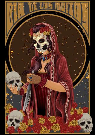 Dia de los muertos design Illustration