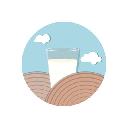 glass of milk Ilustracja