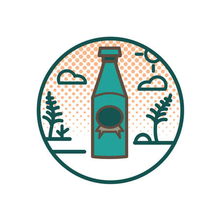 bottle of soda drink Ilustrace