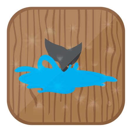 クジラの尾  イラスト・ベクター素材