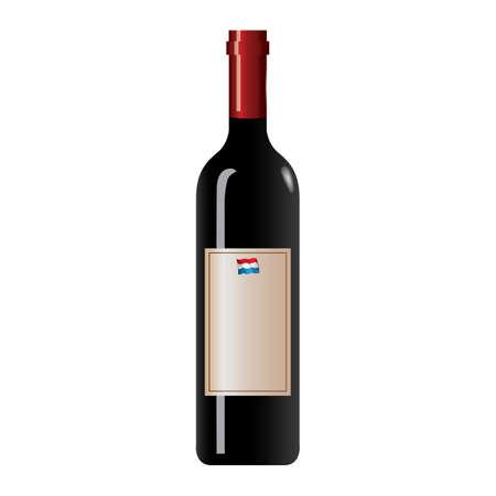 wine bottle 向量圖像