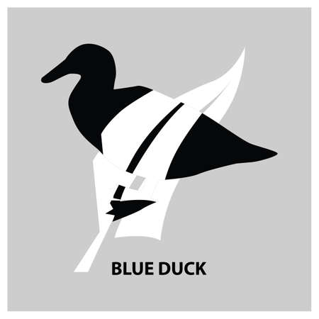 Blaue Ente Standard-Bild - 79187390