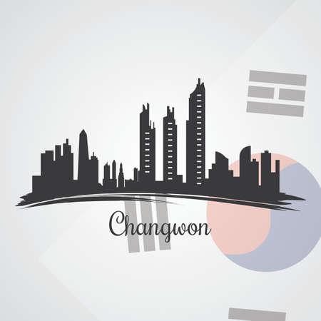 changwon skyline silhouet