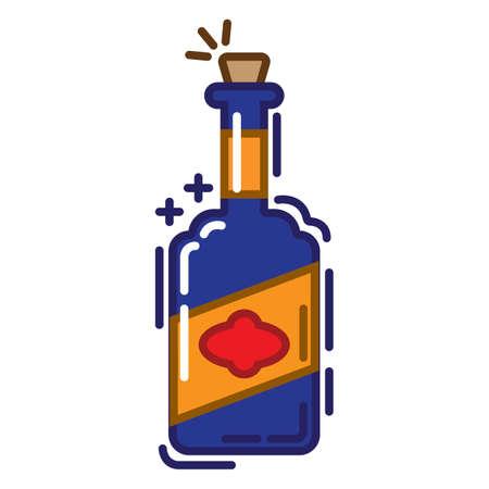 Botella de licor Foto de archivo - 79187408