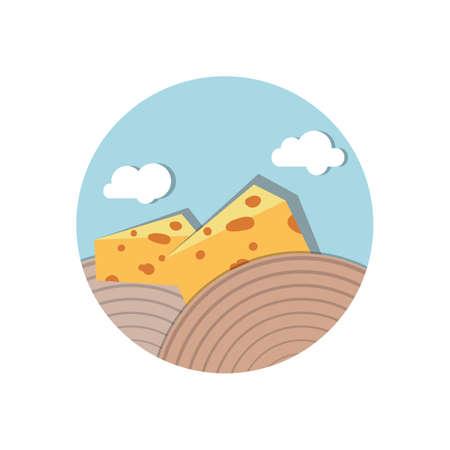 cheese blocks Ilustracja