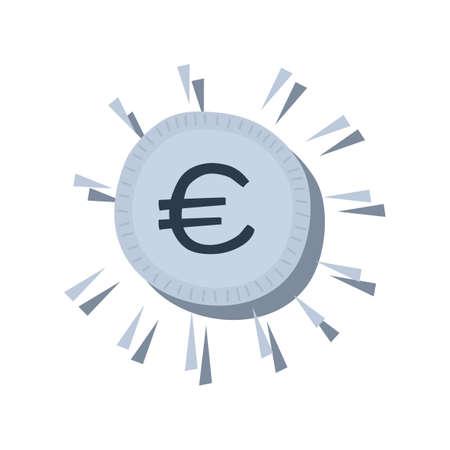 欧州連合の通貨  イラスト・ベクター素材