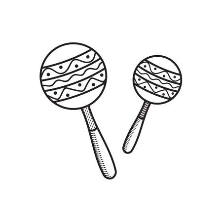 a pair of maracas Illustration