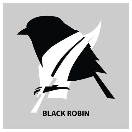 black robin Illustration