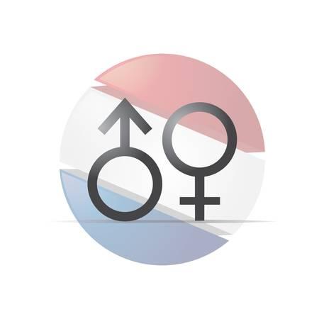 male and female gender symbols Çizim