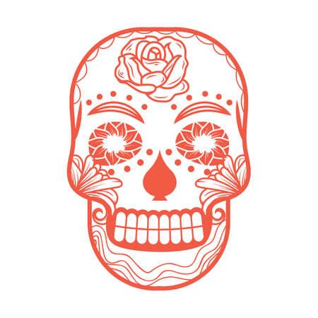 schedel hoofd ontwerp Stock Illustratie