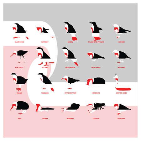 set van dierlijke pictogrammen