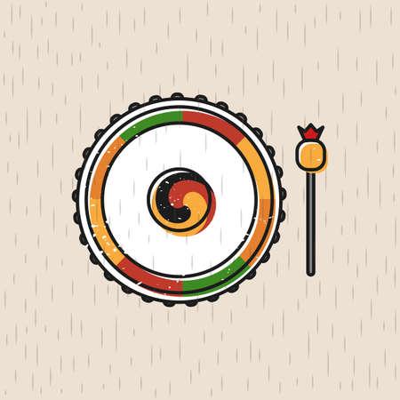 Colorful vector icon Иллюстрация