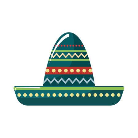 traje mexicano: sombrero hat Vectores