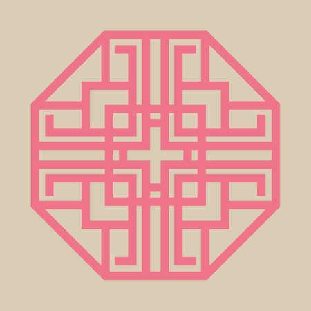 traditional korean pattern Illustration