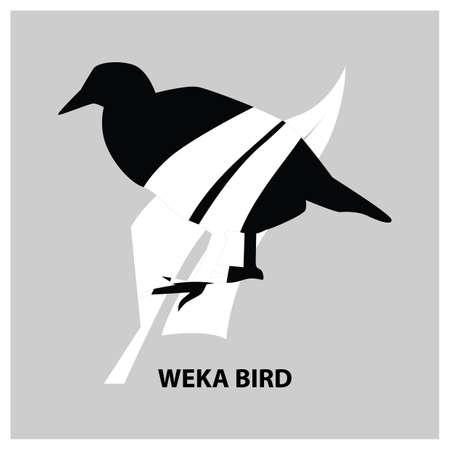 ウェカ ・鳥  イラスト・ベクター素材