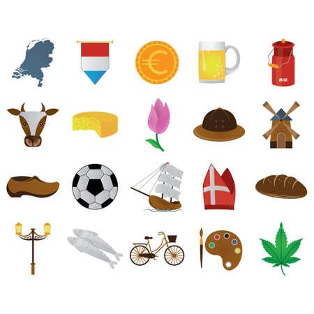 set of netherlands icons Ilustrace