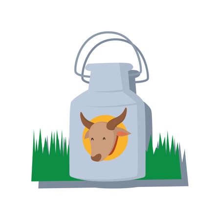 milk can Ilustração