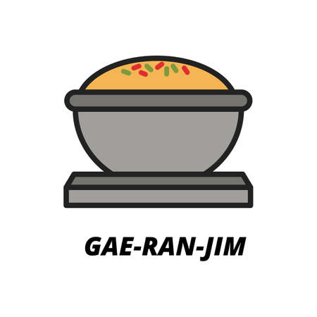 gae ran jim Illustration