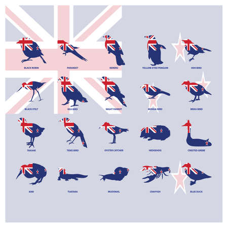 set van dierlijke pictogrammen Stock Illustratie
