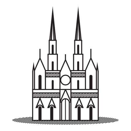 metropolitan cathedral Illustration