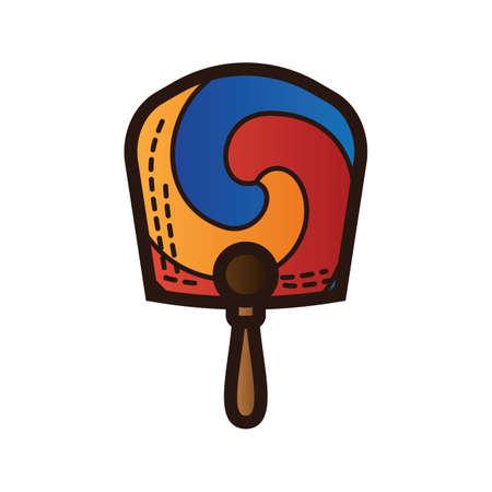 south korea hand fan