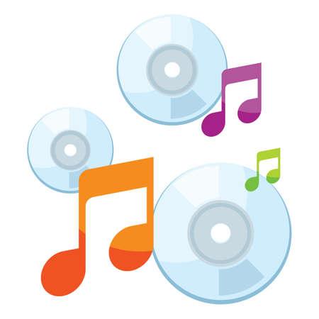 quaver: Music cds Illustration