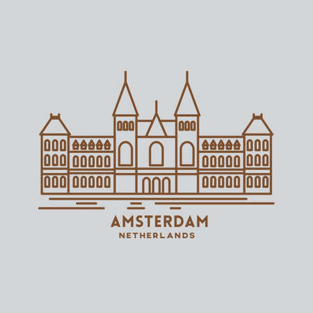 european culture: amsterdam Illustration