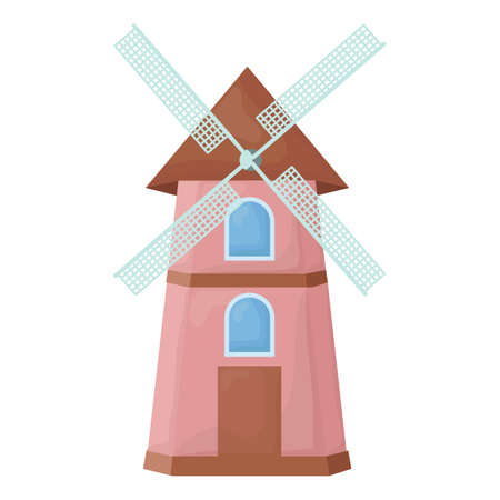 windmill kinderdijk Ilustrace