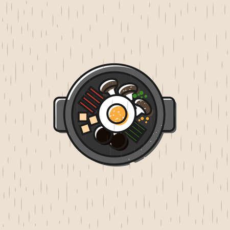A bibimbap icon Illustration