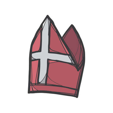 Papa cappello Vettoriali