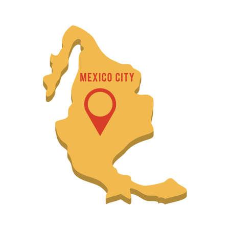 멕시코지도 일러스트