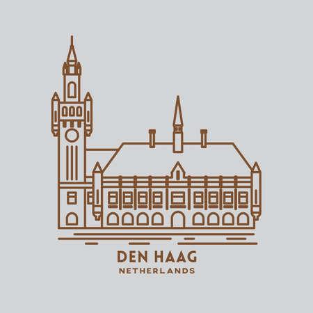 the hague: den haag Illustration