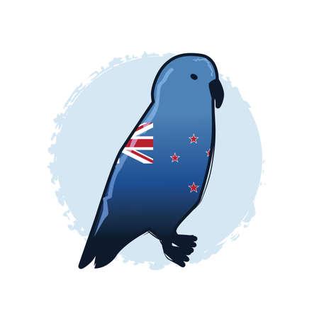 Nacht papegaai Stock Illustratie