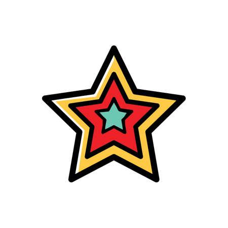 つ星  イラスト・ベクター素材