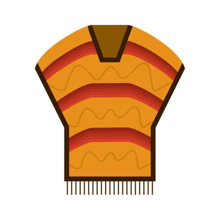 poncho Ilustração