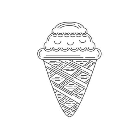 ice cream cone Иллюстрация