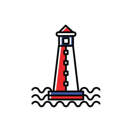 灯台  イラスト・ベクター素材