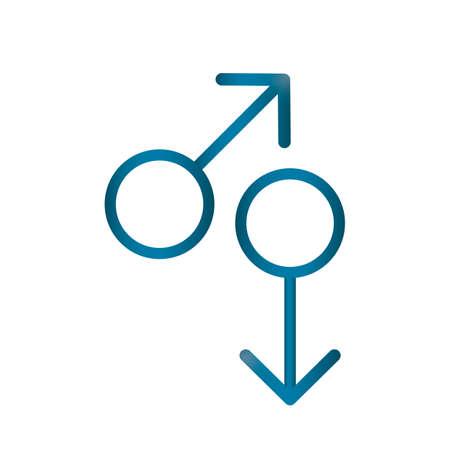 Twee mannelijke geslachtssymbool Stock Illustratie