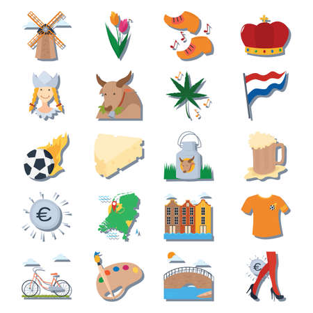 set of netherlands icon