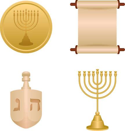 Collection d'objets de hanukkah Banque d'images - 79169790