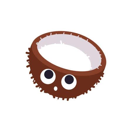 kokosnootschil Stock Illustratie
