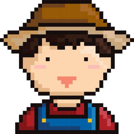 pixel art farmer