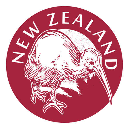 new zealand label design Illustration