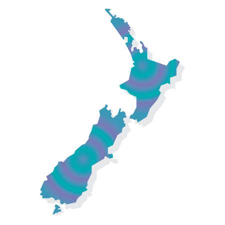 Kaart van Nieuw-Zeeland Stock Illustratie