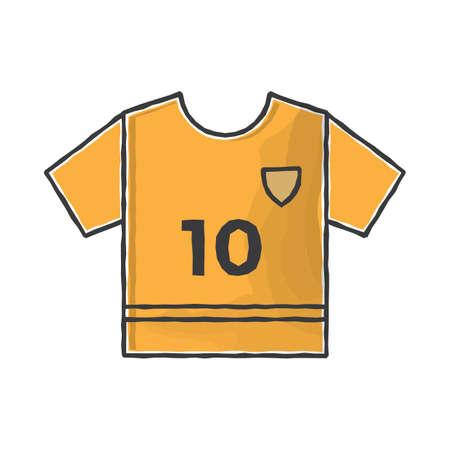 voetbal Jersey Stock Illustratie